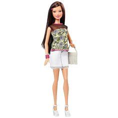 Barbie Raquel Fashionista Saia Branca