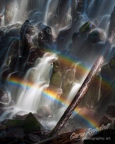 Ramona Falls Double Rainbow, Oregon