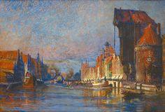 Theodor Urtnowski (1881-1963), Widok Gdańska od strony Motławy, pocz. XX wieku, Muzeum Narodowe w Gdańsku