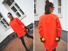 Orange Blouse from Ptaszek design