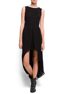 Maxi-vestido gasa asimétrico