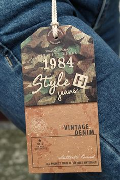 Garra, Fashion Tag, Fashion Labels, Retail Branding, Clothing Packaging, Print Layout, Tag Design, Clothing Labels, Vintage Denim