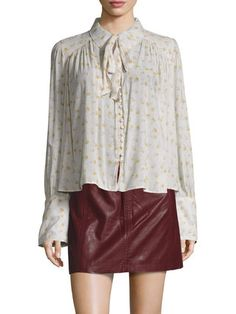 Modern Muse Print High Low Blouse by Free People at Gilt