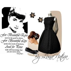 Audrey Hepburn inspired For beautiful eyes..., created by Luna Nativa