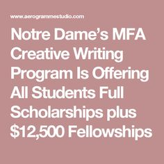 Fellowships  Scholarships  and Financial Aid   MFA in Creative