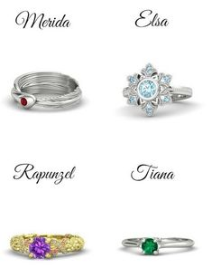 Fan-made Disney princess rings.