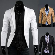 Fashion Men Slim Fit Casual Blazer