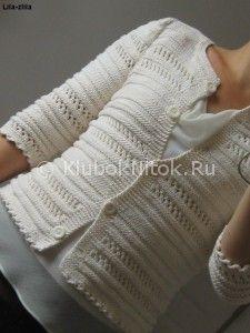 Ажурный кардиган спицами   Вязание для женщин   Вязание спицами и крючком. Схемы вязания.