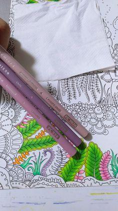 Coloring Tips, Leaf Coloring, Adult Coloring Pages, Coloring Books, Colouring Techniques, Crayon Art, Johanna Basford, Color Blending, Prismacolor