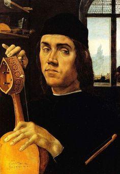 Filippino Lippi, Ritratto di musico / Portrait of a Musician 1483-1485 Dublino, National Gallery