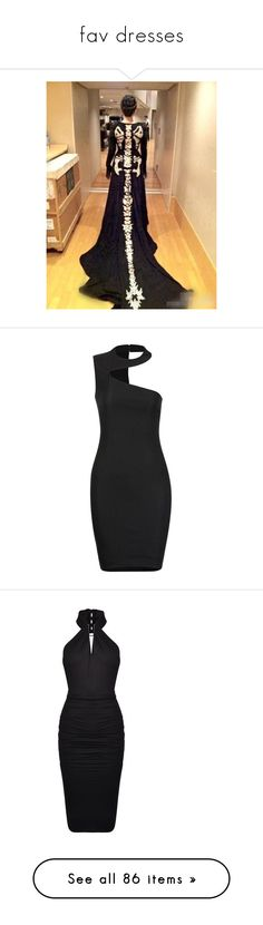 """""""fav dresses"""" by controlleddestiny ❤ liked on Polyvore featuring dresses, black, sexy cut out dresses, cut out cocktail dresses, sexy dresses, cutout dresses, sexy cocktail dresses, cocktail dresses, holiday dresses and halter top cocktail dress"""