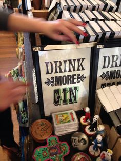 Drink more gin sign @ Holy Kitsch. Also have tequila :) great for a bar