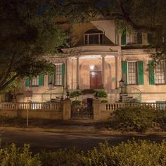 The sun has set and the spirits are starting to stir...  #VisitSavannah
