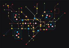 PAC-MAN Retro Gaming Tube Map at PublicGriefJunkie.com