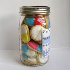 Ha! Giant pain killers to help someone special feel better! Package in a mason jar with a prescription label.