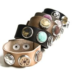 NOOSA Amsterdam bracelets are so much fun. You can change the 'chunks' to match your outfit. I have the dark brown bracelet with 8 chunks now! Jewelry Accessories, Fashion Accessories, Fashion Jewelry, Jewelry Ideas, Cuff Bracelets, Bangles, Leather Bracelets, Leather Jewelry, Cuff Jewelry