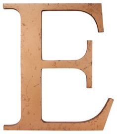 Gold Letter E | VMF - Wall Decor | One Kings Lane
