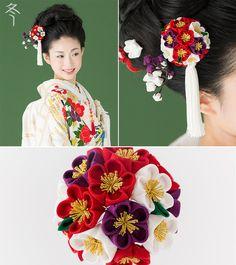 Olympus Sashiko Fabric - Sashiko Placemat Kit # 311 - Asanoha & Seven Treasures - Navy - Japanese Embroidery - Embroidery Design Guide Ribbon Art, Diy Ribbon, Fabric Ribbon, Flowers In Hair, Silk Flowers, Fabric Flowers, Ribbon Embroidery, Embroidery Designs, Kanzashi Flowers