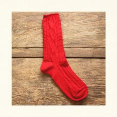 CABLE SOCK - Red