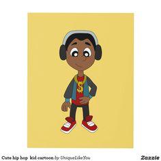 Cute hip hop  kid cartoon panel wall art