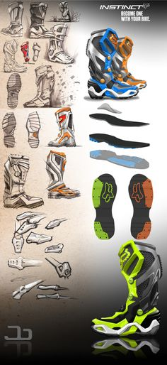 Fox Instinct boot concept by jake barney, via Behance