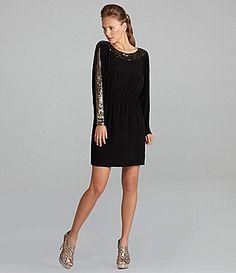 BCBGMAXAZRIA SequinPanel Dress #Dillards