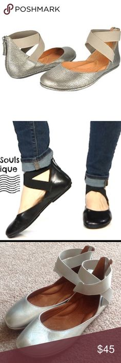 Gentle Souls silver shoes In lightly worn condition. Bundle at least 3 items and get 25% discounts                                     g Gentle Souls Shoes