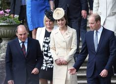 Press Eye - Northern Ireland - 14th June 2016 The Duke & Duchess of Cambridge, Guests of Honour and the Secretary of State are pictured at the Annual Garden Party in Hillsborough Castle, Northern Ireland. Photographer - ©Matt Mackey / Press Eye