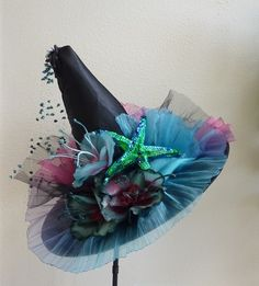 SEA STAR //Witch black hat costume party Halloween