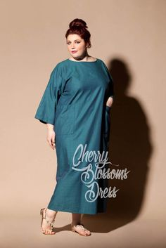 Cotton dress/ Plus size dress/ Plus size by cherryblossomsdress