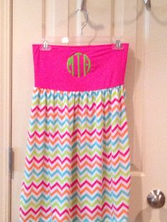 Monogrammed Swimsuit Coverup Pink Top with by TheSouthernPeach