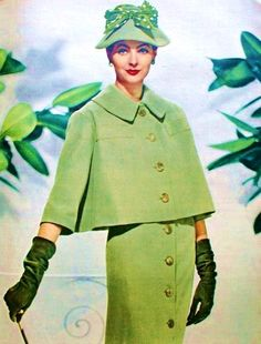 Suit by Antonio Castillo for Lanvin. Marie Claire (France) March 1956