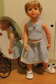 Tuto ensemble jupe et petit haut pour poupée Gotz.
