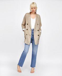 e615dc93ff5c ZARA - WOMAN - LINEN COAT High Jeans