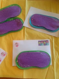 12 year old birthday party invitations on sleep mask