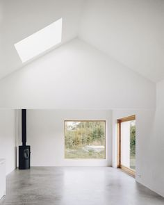 Minimalist house on island of Gotland is designed by Swedish architecture studio Etat Arkitekter. The family vacation house is built with concrete and wood. Interior Architecture, Interior And Exterior, Interior Design, Interior Modern, Interior Paint, Minimalist Interior, Minimalist Home, Architect House, House Plans