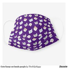 Shop Cute funny cat heads purple cloth face mask created by TheSillyHippy. Crazy Cat Lady, Crazy Cats, Logo Face, Snug Fit, Funny Cats, Cat Lovers, Purple, Face Masks, Cute