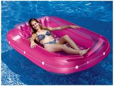 A pool float that's great for when you want to float but not get wet *or* to fill up with water and use as a teeny-tiny pool when you don't have a full-size one.