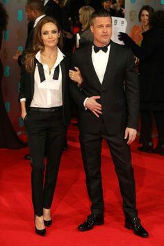 #AngelinaJolie and #BradPitt on the #BAFTA red carpet.