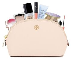 """My makeup bag ♡"" by simplymollyrose ❤ liked on Polyvore featuring beauty, MAKE UP FOR EVER, NARS Cosmetics, Givenchy, Hourglass Cosmetics, tarte, Topshop, Benefit, Charlotte Tilbury and Tory Burch"