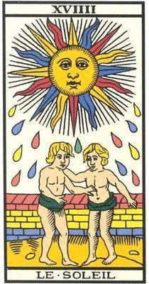 Interprétation de l'arcane du soleil dans le Tarot de Marseille - Apprendre le Tarot de Marseille, le Tarot Divinatoire