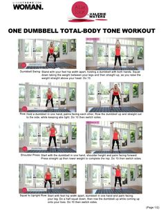 One Dumbbell Total-Body Tone Workout