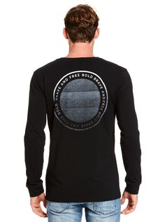 Image for Washed Black Print Tee from Just Jeans