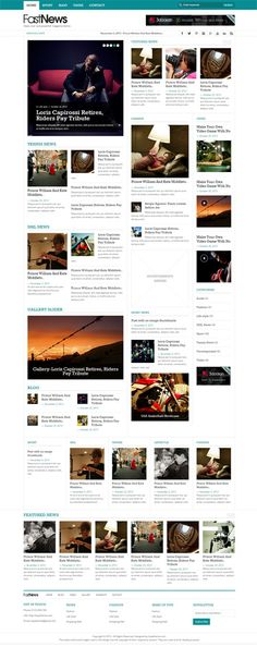 Fast News- Stylish WordPress Theme #wordpressthemes #responsivedesign #preimumwordpessthemes