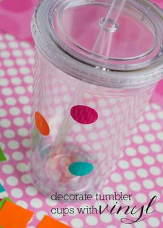 How to decorate tumbler cups with vinyl: A DIY tutorial and FREE printable