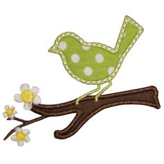 Perched Bird applique - for the rocking chair cover
