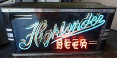 Highlander Neon Beer Sign