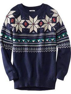 Fair Isle Tunic Sweater | Old Navy