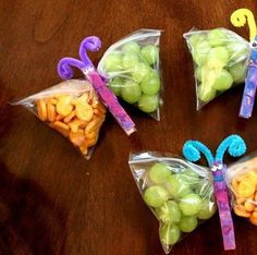 Butterflys made from baggies and a close-pin!! Fill with your favoite treats