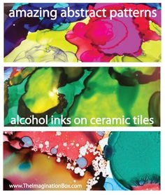 alcohol inks on tiles